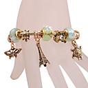 Fashion Eiffel Butterfly Charm Bracelet
