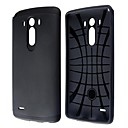 Fashion Hotsale Hybrid Slim Armor PC and Silicone Case with Anti-shock Grid Design for LG G3