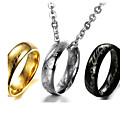 Buy Men's Women's Pendant Necklaces Titanium Steel Religious Fashion Vintage Black Silver Golden Jewelry Wedding Party Daily Casual 1pc