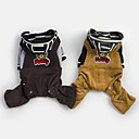 Cool Fashion Bear Design Male Overalls For Dogs Pets(Assorted Sizes,Colors)