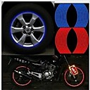 17 Strips 3M High quality Reflective Car Motorcycle Rim Stripe Wheel Decal Tape Stickers