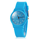 Women's Light Sport Style Rubber Band Quartz Wrist Watch(Assorted Colors)