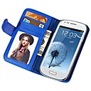 Soft Touch Wallet PU Leather Case for Samsung Galaxy S3 MINI I8190