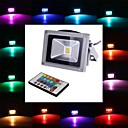 10 W 1 Integrate LED 900 LM RGB Remote-Controlled Flood Lights DC 12 / AC 12 V