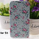 Beautiful Flowers Pattern PU Leather Full Body Case with Stand for Samsung Galaxy S5 I9600
