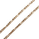 Buy 60cm,3mm,18K Gold Plated Figaro Chain Men's Necklace Uneasy Fade