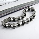 Men's Fashion Personality Non Mainstream Hollow Titanium Bicycle Steel Bracelets