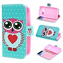 Polka Dots and Love Wallet PU Leather Case Cover with Stand and Card Slot for Samsung Galaxy Ace 4 G313H