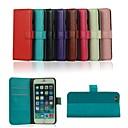 iphone 6 artı standı ve kart yuvası ile çılgın at pu deri çanta kapağı (çeşitli renk)