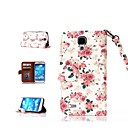Flower Pattern PU Full Body Case with Card Slot and Stand for Samsung Galaxy S4 I9500
