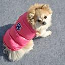 härliga vinter bomull stoppad jacka för hundar (blandade färger, storlekar)