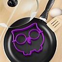 telur burung hantu lucu goreng cetakan silikon tengkorak omelet hewan 12.7 * 14 * 1,5 cm (warna acak)