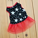 krásný hvězda černé prohrábnout šifónové šaty pro psy (rozmanité velikosti)