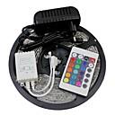 5m 300x3528 SMD RGB LED strip lys og 24key fjernbetjening og 2a eu strømforsyning (ac110-240v)