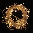9.6W 10m navidad flash de 100 LED-lámpara cálida luz de tira de luz blanca (enchufe de la UE, ac 220v)