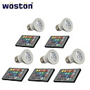 5 pcs WOSTON E26/E27 3 W 1 150 LM Color-Changing Remote-Controlled/Decorative Spot Lights AC 85-265 V