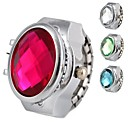 Women's Brilliant Alloy Analog Quartz Ring Watch (Assorted Colors)
