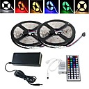 Waterproof 10M 150X5050 SMD RGB LED Strip Light and 44Key Remote Controller and 6A US Power Supply (AC110-240V)
