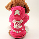 Dog Coats/Hoodies-XS/S/M/L-Winter-Rose/Black-Warm-Polar Fleece