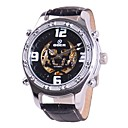 GOER 2531 Men's Fashion Design Skull-shape Hollowed Dial Full Automatic Mechanical Wrist Watch