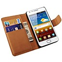Genuine Leather Wallet Case for Samsung Galaxy S2 i9100