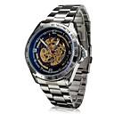 Buy SHENHUA® Men's Auto-Mechanical Hollow Dial Steel Band Wrist Watch (Assorted Colors) Cool Unique Fashion