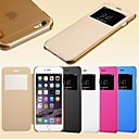 Smart View Screen Touch PU Leather hoesje for iPhone 6 (Assorted Colors)