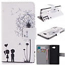 The Dandelion Lover Design PU Leather Full Body Case with Stand for Sony Xperia M2