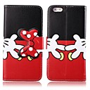 Black and Red PU Leather Wallet Full Body Case with Stand and Card Slot for iPhone 6 Plus