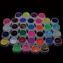36PCS Mix Powder Pure Color Glitter Paillette Sequins UV Color Gel for Nail Art