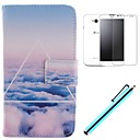 The Cloud Design PU Leather Full Body Case with Screen Protector, Stylus and Stand for LG L70