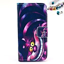 Buy Cheshire Cat Pattern PU Leather Full Body Case Card Slot Stand iPhone 5C