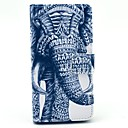 elefant mønster pu lærveske deksel med stativ kortholderen til Sony Xperia z3 kompakt m55w