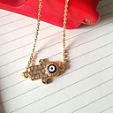 Golden Pendant Necklaces Party / Daily / Casual Jewelry