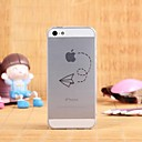 Creative Pattern Transparent TPU Pattern Soft Case for iPhone 5/5S