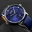 Men's Business Style Japanese Quartz Second Dial Water Resistant/Water Proof Calendar Leather Band Wristwatch Cool Watch Unique Watch