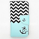Buy Anchor Pattern PU Leather Full Body Case Card Slot Stand iPhone 5C