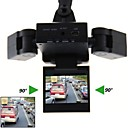 LEBOSH®2.0 Inch Two Camera Car DVR 90 Degree 8 infrared LEDs 5.0 Mega CMOS