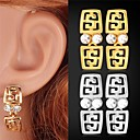 Buy Earring Drop Earrings Jewelry Wedding / Party Daily Casual Sports Alloy Rhinestone Platinum Plated Gold Silver