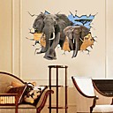 Environmental African Elephant 3D Wall Sticker