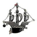 European Fashion Vintage Sailing Ship Alloy Brooch