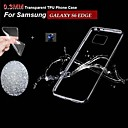 TPU ultra-thin Transparent Soft shell + Dustproof Plug for Samsung Galaxy S6 edge