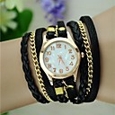 Women's Vintage Braided Rope Wrap Bracelet Watch