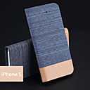 Jeans PU Holder Mobile Phone Case for iPhone 5/5S(Assorted Colors)