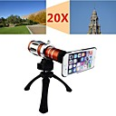 Apexel Telescope 20X Zoom Telephoto Manual Focus Long Focal Camera Lens for iPhone 6 with Back Cover Case and Tripod