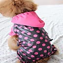 Cute Dot Rain Coat Poncho Polka for Pet Dogs