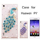 Buy Back Cover Rhinestone Animal PC Hard Case Huawei P7 / G7