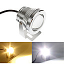 Silver Waterproof 10W 900Lm 2700-6300K Warm White/Cold White light Underwater Landscape Fountain Pond Lamp (AC85-265V)
