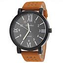 Buy JUBAOLI® Men's Military Design Khaki Leather Band Quartz Wrist Watch Cool Unique