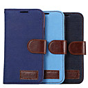 PU Leather and Plastic The Cowboy Grain with Stent Can Insert Card for Samsung Galaxy A5 (Assorted Colors)